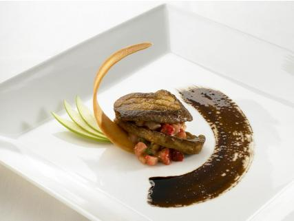 Seared Foie Gras with Maple Balsamic Reduction