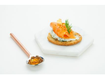 Smoked Salmon and Maple Pearl Bites
