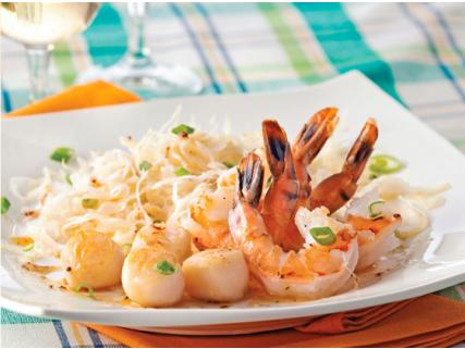 Shrimp and Scallops with Maple Dressing